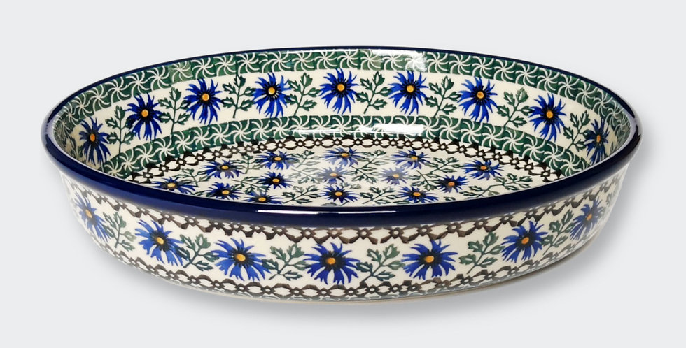 Large Oval Baking Dish in Cornflower 31x22cm