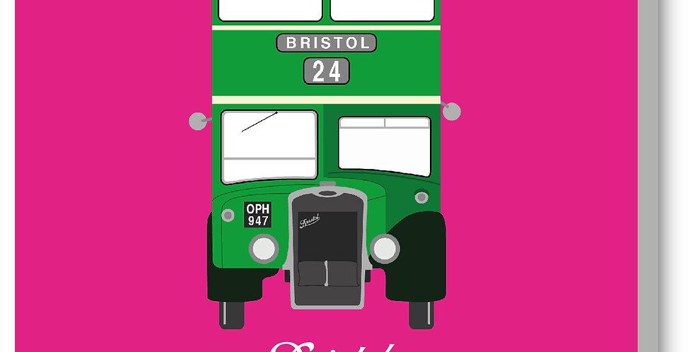 Pink Vintage Bristol Bus