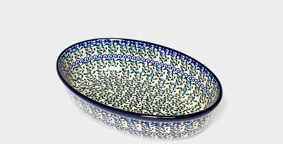 Small Oval Baking Dish in Speedwell