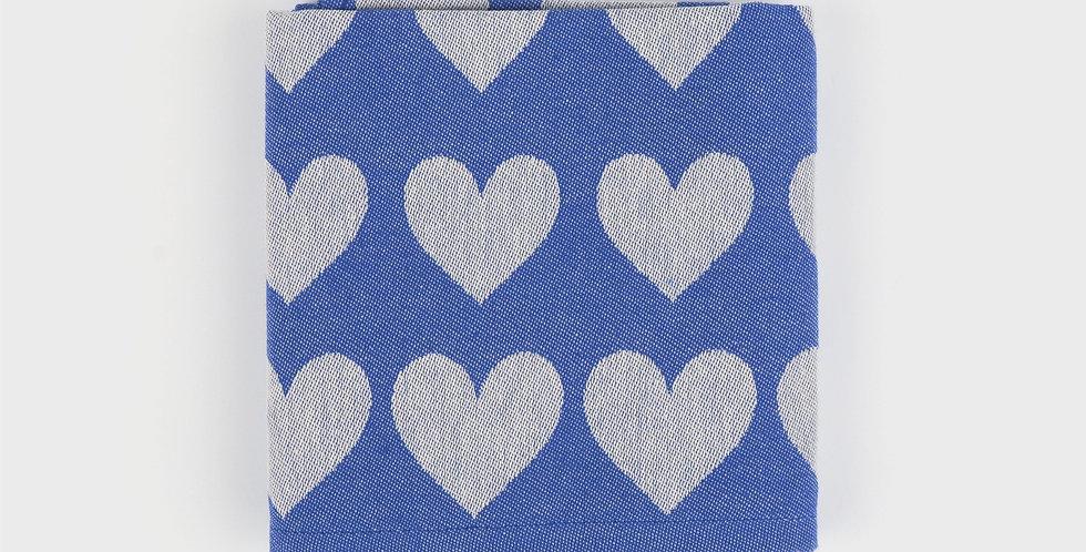 Teatowel in Blue Hearts
