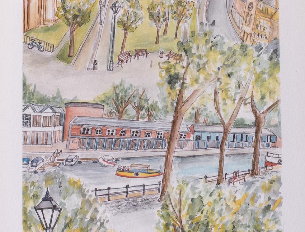 Bristol Green Capital watercolour
