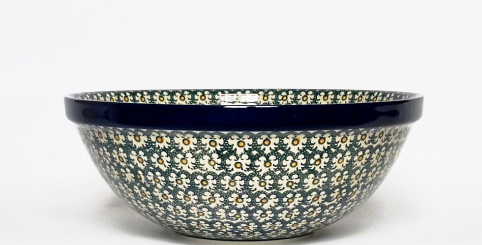 Large serving bowl in Golden Green 28cm
