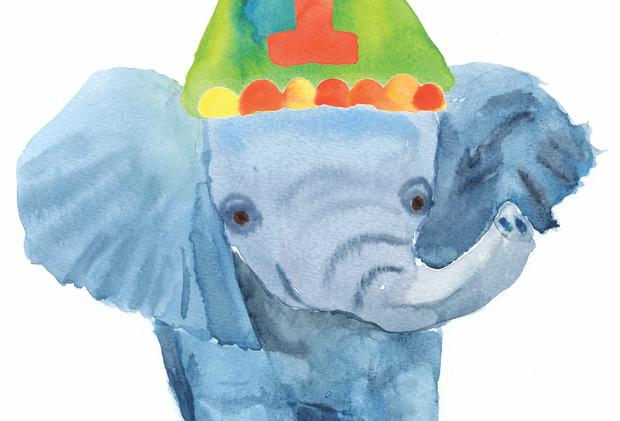 Number 1 Elephant Card