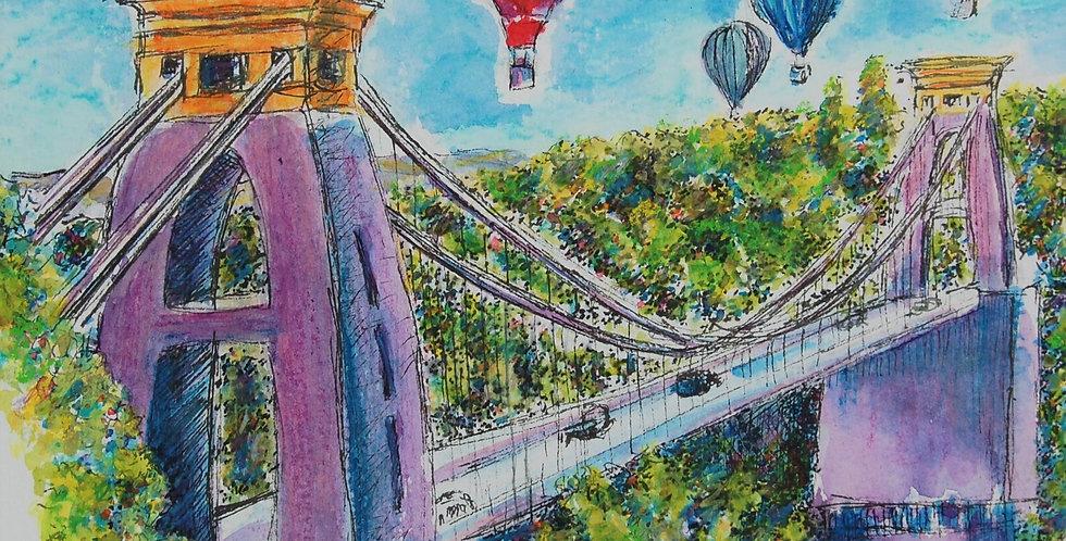 Balloons over Clifton Suspension Bridge Bristol