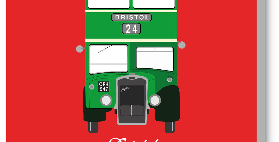 Red Vintage Bristol Bus