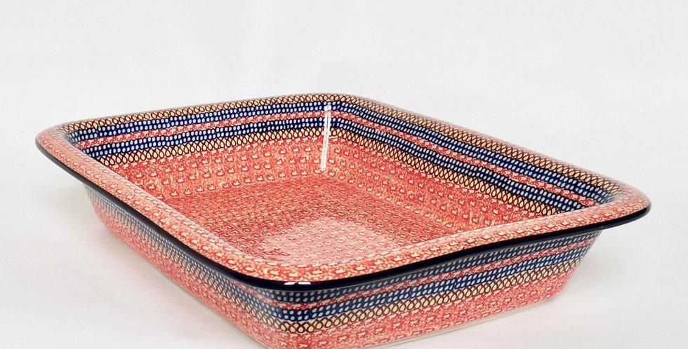 Large Lipped Baking Dish in Red 35x28cm - UNIKAT DESIGN