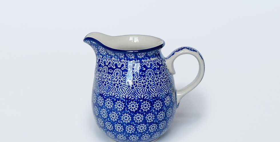 Milk Jug in Blue Trellis 500ml