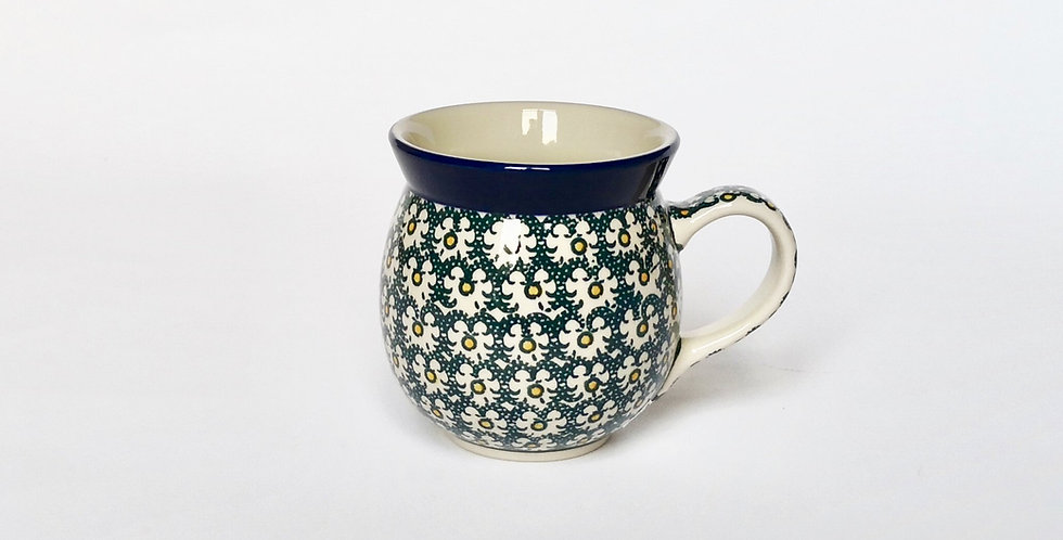 Large Woodsman Mug in Green and Gold