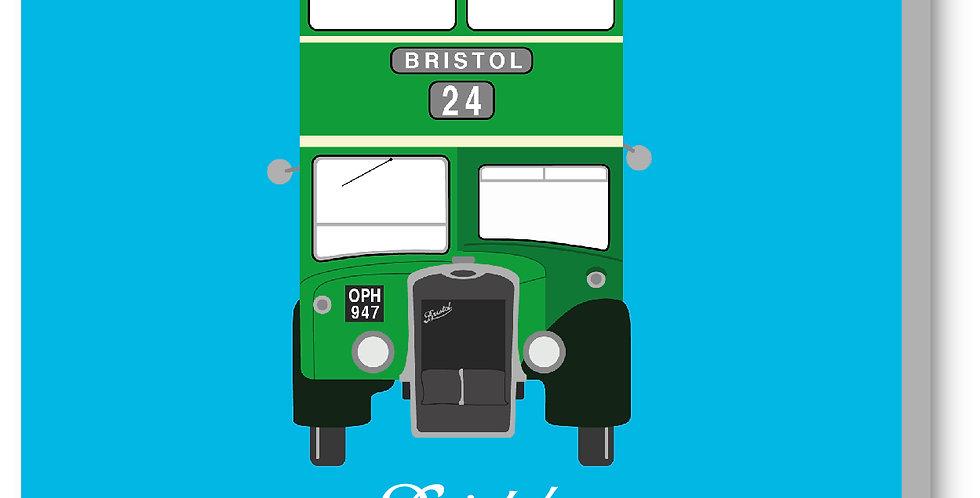 Blue Vintage Bristol Bus