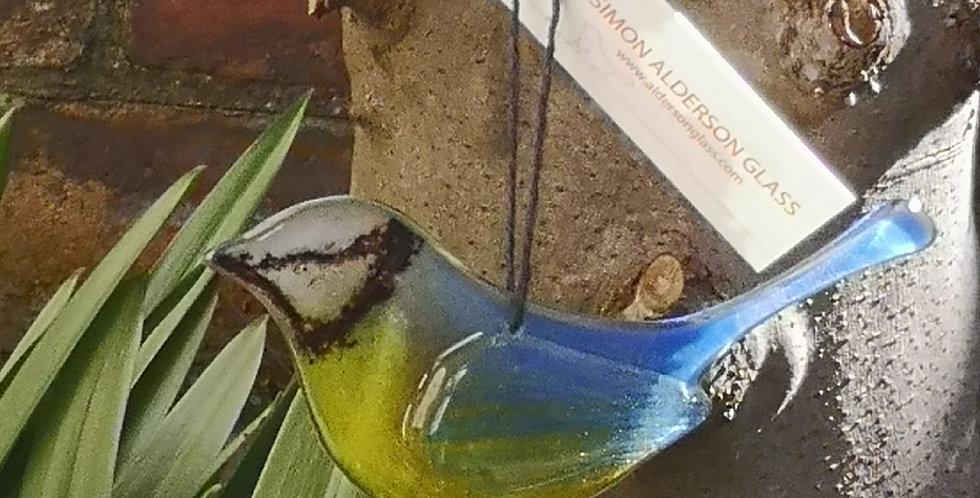 Fused Glass Blue Tit