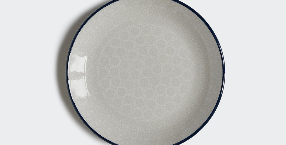 Breakfast plate in White Trellis 20cm