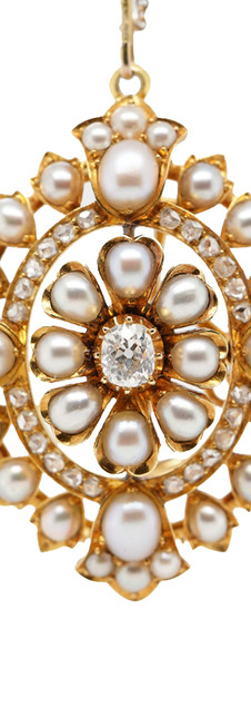 Gold & Pearl Brooch