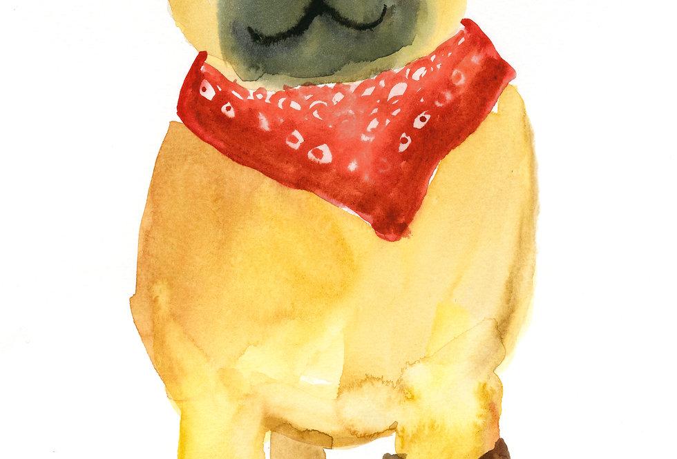 Pugs in Uggs Print