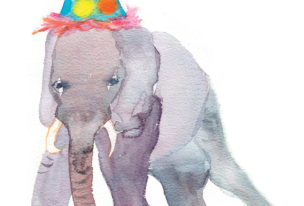 Party Elephant card
