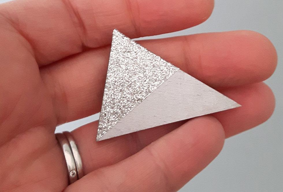 Glitter Triangle Brooch