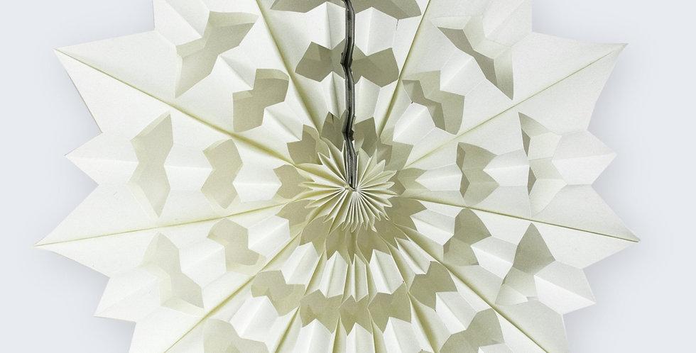 White Geometric Snowflake 85cm