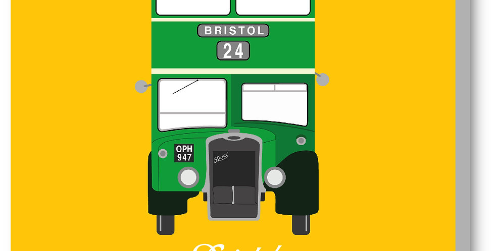 Yellow Vintage Bristol Bus