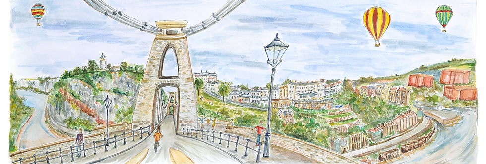Suspension Bridge watercolour