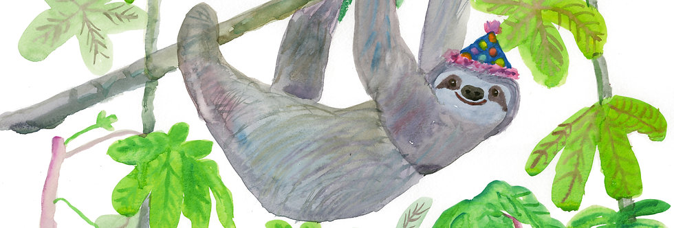 Guarumo Tree Sloth Print