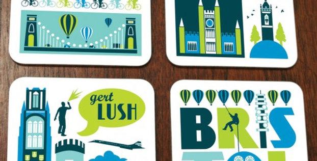 Bristol City Coaster Set