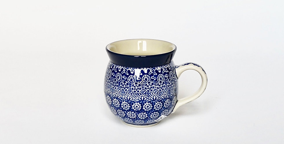 Medium woodsman mug in Blue Trellis 350ml