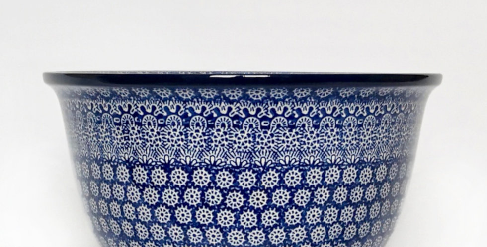 Large mixing bowl in Blue Trellis 27cm