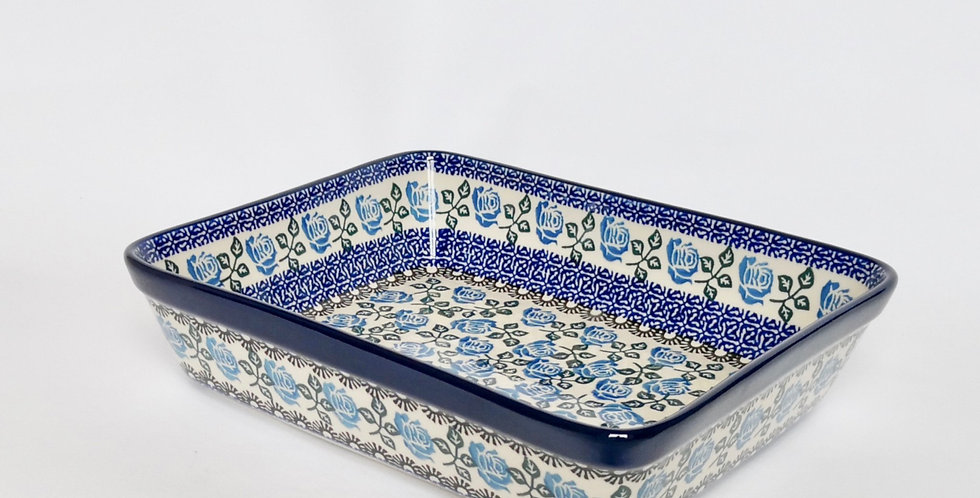 Medium Lasagne Dish in Blue Rose