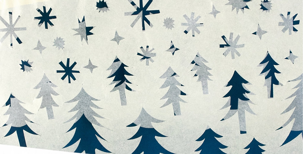 Paper garland in snow 5m
