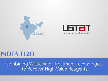 How does India H2O combine wastewater treatment technologies to recover high-value reagents?