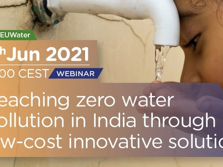 WEBINAR: Reaching zero water pollution in India through low-cost innovative solutions -8th June 2021
