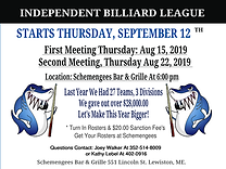 Independent Billiard League at Schemengees Bar and Grille Lewiston Me