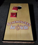 Cornhole League Tuesday and Wednesday at Schemengees Bar and Grille Lewiston Me