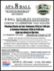 APA 8 Ball Scotch Doubles at Schemengees Bar & Grille Restaurant Lewiston Me