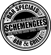 Schemengees Bar and Grille, Lewiston Me, Check out our Mug Club and get a FREE t Shirt and Mug! We have 14 Different Beers on Tap, Cheers!