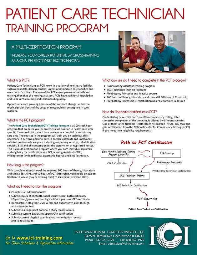 Cna Pct Certification Classes Chicago 2019 Cna School Pct