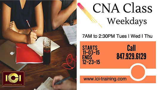 CNA Certification in Illinois, cna certification in Chicago, cna weekday classes Chicago, cna classes in Chicago, cna certification Chicago