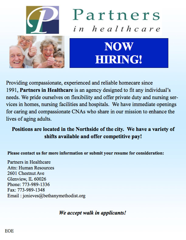 partners in health care chicago, partners in health care Illinois, partners in healthcare agency chicago illinois