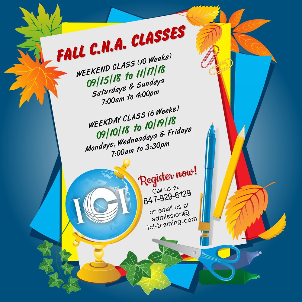 cna classes in Chicago Illinois, cna 4 week class in chicago, cna weekend classes in Chicago Illinois