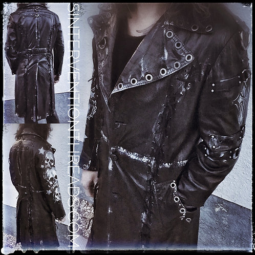 MEMENTO MORI CUSTOM VINTAGE Leather Trench coat