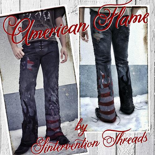 'American Flame' Custom Order Stage Pants Streetwear American Flag
