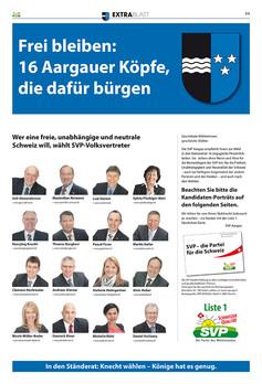 Extrablatt SVP Schweiz 12 Seiten, Layout