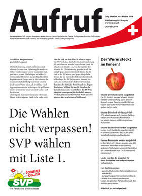 SVP Wahlzeitung, Konzept, Produktion