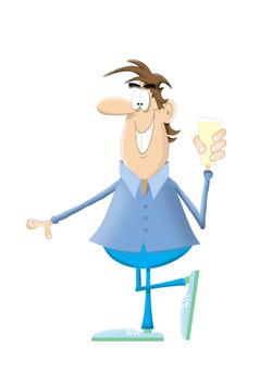 guy holding beer