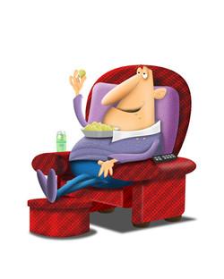 guy in chair relaxing