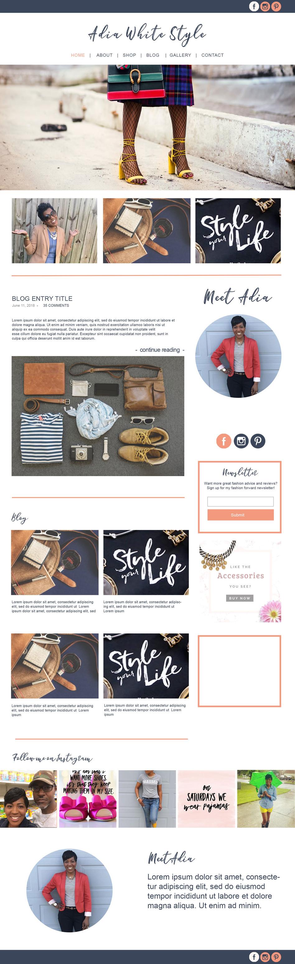 Adia White- Fashion Blog