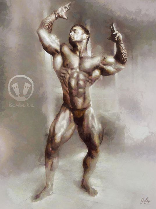 Facebook - A digital painting of Rob Kreider doing a classic pose.jpg