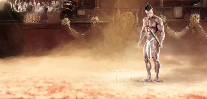 Facebook - Rudis A digital painting of Brandan Fokken   Rudis is a wooden sword