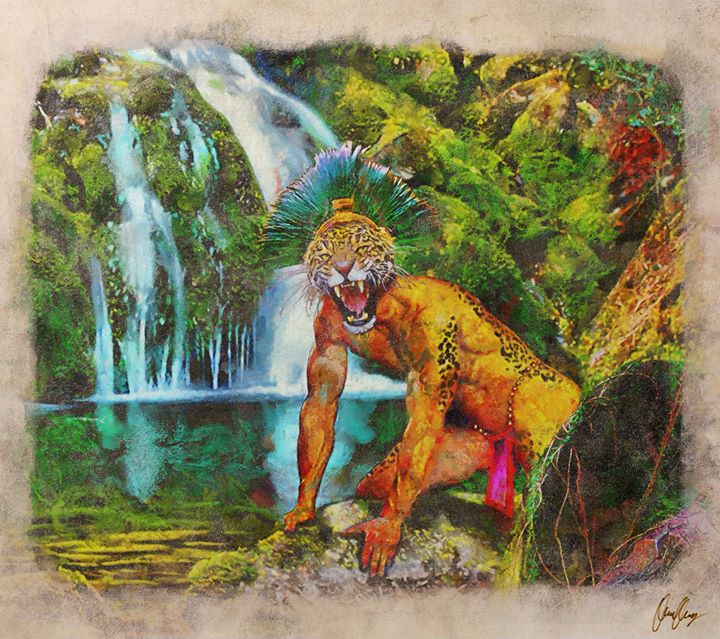 "Facebook - In Aztec mythology, Tepeyollotl (""heart of the mountains""; also Tepey"
