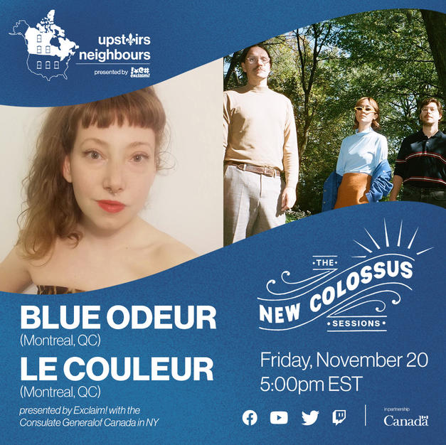 upstairs neighbours with: Blue Odeur (CA) + Le Couleur (CA)