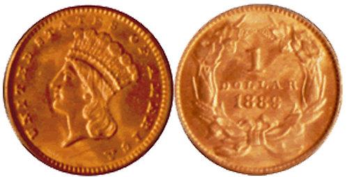 Indian Head Gold Dollar - Type III